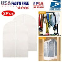 2PC Suit Travel Bags Garment Bag Dress Jacket Storage for Hanging Clothes Cover
