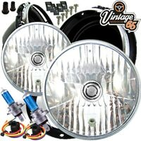 "Morris Minor 7"" Sealed Beam Conversion Crystal Xenon Halogen Headlight Lamp Kit"