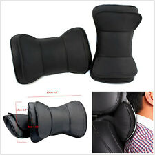 One Pair Portable 100% Genuine LeatherDouble Layer Car Seat Headrest Cushion Mat