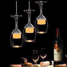 Modern 3W Crystal Wine glasses Chandelier Ceiling Lights Pendant LED Lighting US