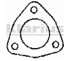 Malian Part Number : BLG39 - 3 pin exhaust gasket - 51mm ID -  BLG39AQ / 410062
