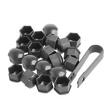 17mm Black Wheel Nut Bolt Covers Caps For SEAT IBIZA LEON TOLEDO ALTEA Set of 20
