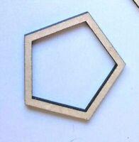 Holz Verschiedene Formen Pentagon Formen Laserschnitt MDF