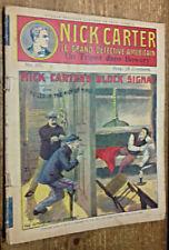Nick Carter, n°69 : Un Tripot dans Bowery