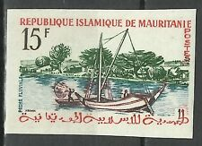 Mauritanie Mauritania Bateau Fishing Boat Boot Non Dentele Imperf Proof ** 1960