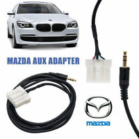 Car 3.5mm AUX Input Audio Cable Female Interface Adapter For Mazda 3 6 MX-5 RX8