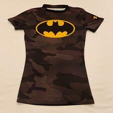 Under Armour Heatgear Batman Camouflage Fitted T-Shirt Boys Medium M