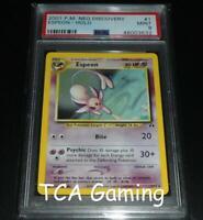 PSA 9 MINT Espeon 1/75 Neo Discovery HOLO RARE Pokemon Card