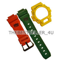ORIGINAL G-SHOCK RASTA BAND AND BEZEL GLX6900XA GLX6900XA-9 Strap and Bezel