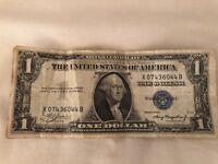 1935 silver certificate 1 blue seal dollar bills