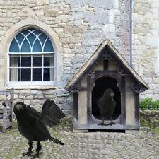 1XBlack Lifesize Raven Movie Prop Fake Crow Halloween Fake Bird Hunting Decor yu