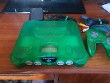 NINTENDO 64 Jungle Green Console with controller + all Cords Aus Pal N64