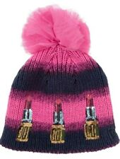 £60 HOUSE OF HOLLAND Net a Porter NEW ERA Sequined PINK Knitted BOBBLE HAT