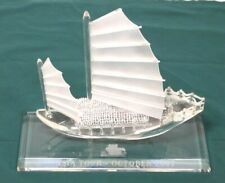 2007 Asia Tour Glass Sail Boat Ship Nautical Oriental Chinese Japanese Junk Boat