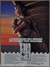1986 USPS advertisement, US Postal Service, Folk Art Stamps 2240-43