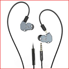 RevoNext QT2 Triple Driver In Ear Earphones With Mic, Detachable Wired Headphone