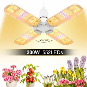 200W Sunlike LED Grow Light E27 Full Spectrum HPS HID Veg Bloom Pflanzenlampe DE
