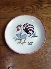 """Blue Ridge - Southern Potteries - Rooster - HTF - 1- 9 11/16"""" dia. plate"""