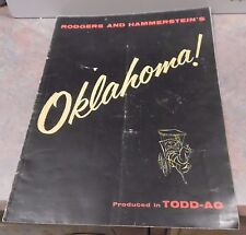 Vintage Rodgers & Hammerstein Oklahoma Movie Program