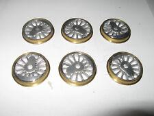 Spur 0 Konvolut 6 Weißmetall-Räder ca. Ø 34,5 mm aus Kleinserie Schuldt Elmshorn