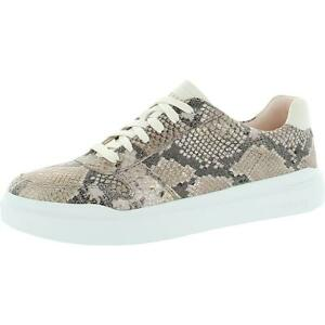 Cole Haan Grandpro Rally Court Women's Leather Snake Print Low Top Sneakers