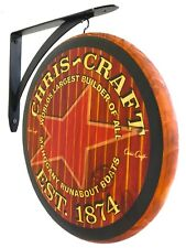 Chris Craft 2 sided wall hanging sign - 12 inch diameter