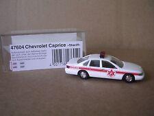 "Busch #47604 1995 Chevrolet Caprice ""Sheriff"" White H.O.Gauge"