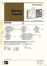 PHILIPS ORIGINAL SERVICE MANUAL pour 90 RL 291