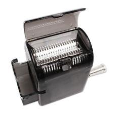 Tobacco Cutter Hand Muller Shredder Herb Grinder with Tobacco Storage Case Black