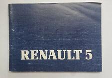 Renault R5 Bedienungs- und Wartungsanleitung Jahrgang 1989