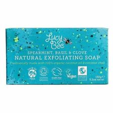 Lucy Bee Spearmint, Basil & Clove Natural Exfoliating Soap - 150g