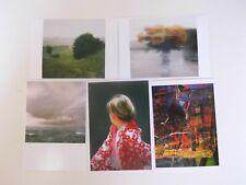Gerhard Richter,5 x Postkarten.Seestück,Bewölkt,Rosen,Betty,Wiesenthal,Claudius