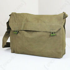 Original Czech Gas Mask Sidepack - Surplus Olive Canvas Shoulder Bag Case Army