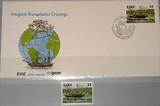 IRELAND IRLAND EIRE 1982 652 + FDC Steamer Steam Ship Raddampfer Schiff MNH