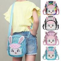 Sequin Rabbit Shoulder Crossbody Bags Kids Girls Backpacks Leather Knapsack Tote