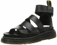 DR MARTENS Womens Clarissa II Open Toe Strappy Platform Cut Out Sandals - Black