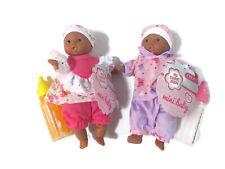 Toysmith Lil Newborn Mini Baby Dolls (6 In) Gift Set Bundle - 2 African American