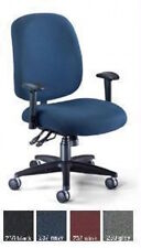 Ofm 700-aa6 Big Tall Adjustable Fabric Office Task Chairs W/ Arm Rests + Casters