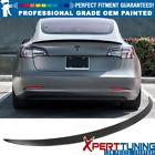 Fits 17-22 Tesla Model 3 Sedan 4-Door Trunk Spoiler - OEM Painted Color