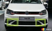 NEW GENUINE VW POLO GTI 15-17 FRONT BUMPER LOWER GRILL RIGHT LEFT TRIM SET