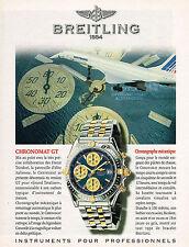 PUBLICITE ADVERTISING 045  1997  BREITLING  montre CHRONOMAT GT  AIR FRANCE