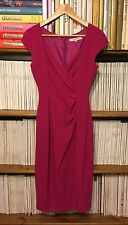 LK BENNETT 'Georgia' pink fitted crepe ruched sheath cocktail dress UK 6 / US 2