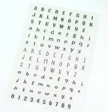 113 ALPHABET/NUMBERS CLEAR RUBBER STAMPS-SMALL/CAPITAL LETTERS-LOWER/UPPER CASE