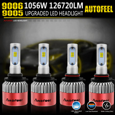 total 126720LM 1056W CREE 9005 LED High Low Beam Headlight Bulbs Kit 9006 HB4