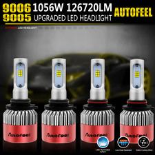 total 126720LM 1056W CREE 9005 LED High Low Beam Headlight Bulbs Kit 9006 HB4