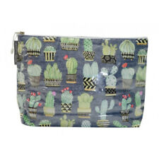 NEW Large Cosmetic Beauty Makeup Storage Toiletry Travel Bag Funky Cactus