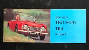 TRIUMPH TR4 1963 SPORTS CONVERITIBLE CAR SALES BROCHURE UK MARKET