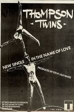 23/1/1982Pg19 Single Advert 7x5 Thompson Twins, In The Name Of Love