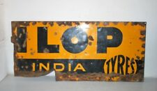 Vintage Old Dunlop Tyre Advertising Enamel Sign Board Part Collectible