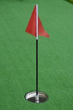 golf flag and cup for golf putting green
